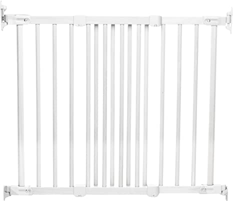 White//Silver BabyDan Super Flexi Fit Extending Metal Safety Gate