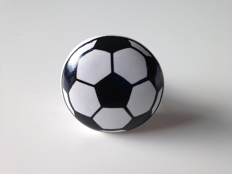 Keramikknauf M/öbelknopf Fussball