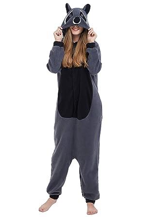 Ropa Kigurumi Pijama Animal Entero Unisex para Adultos con Capucha Cosplay Pyjamas Ardillas Ropa de Dormir Traje de Disfraz para Festival de Carnaval Halloween Navidad