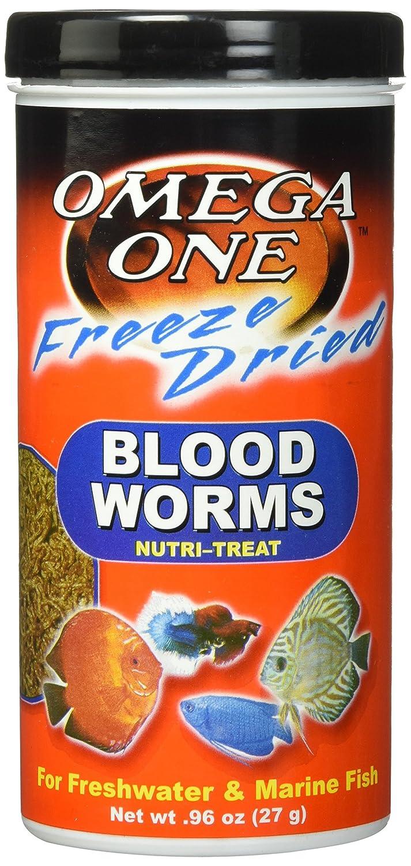 Omega One Freeze Dried Blood Worms 0.96oz by Omega One B0037LWQZG