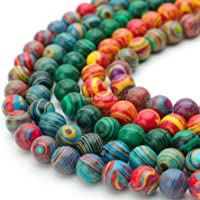 Color : Black and White, Size : 6mm SHENGSHIHUIZHONG Wholesale Round Peacock Malachite Lace Striped Stone Stone Strand Beads for DIY Bracelet Necklace Jewelry Making 4 6 8 10 12mm