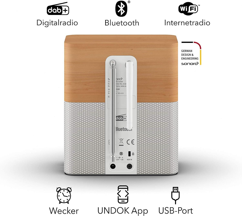 Sonoro Stream Küchenradio Mit Dab Plus Und Bluetooth Ukw Fm Wlan Internetradio Spotify Amazon Deezer Spritzwassergeschützt Ahorn Weiß 2020 Heimkino Tv Video