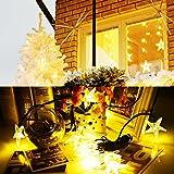 Stringa Solare a Forma di Stelle di Mare Natale Luci, 20 LED Fairy String Light di Asteroidea, Stringa Natale Lampada Decorativa Impermeabile per all'aperto, Patio, Festa di Natale, Giardino,