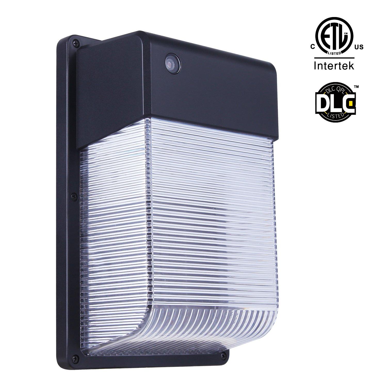 JJC Lighting LED Wall Mount Light, Wall Pack 3000K 28W 3000lm (Dusk-to-Dawn Photocell,Waterproof IP65) 100-277Vac,250W Equiv. Photocell LED Wall Light, ETL Certified for Garage Basement Garden Yard