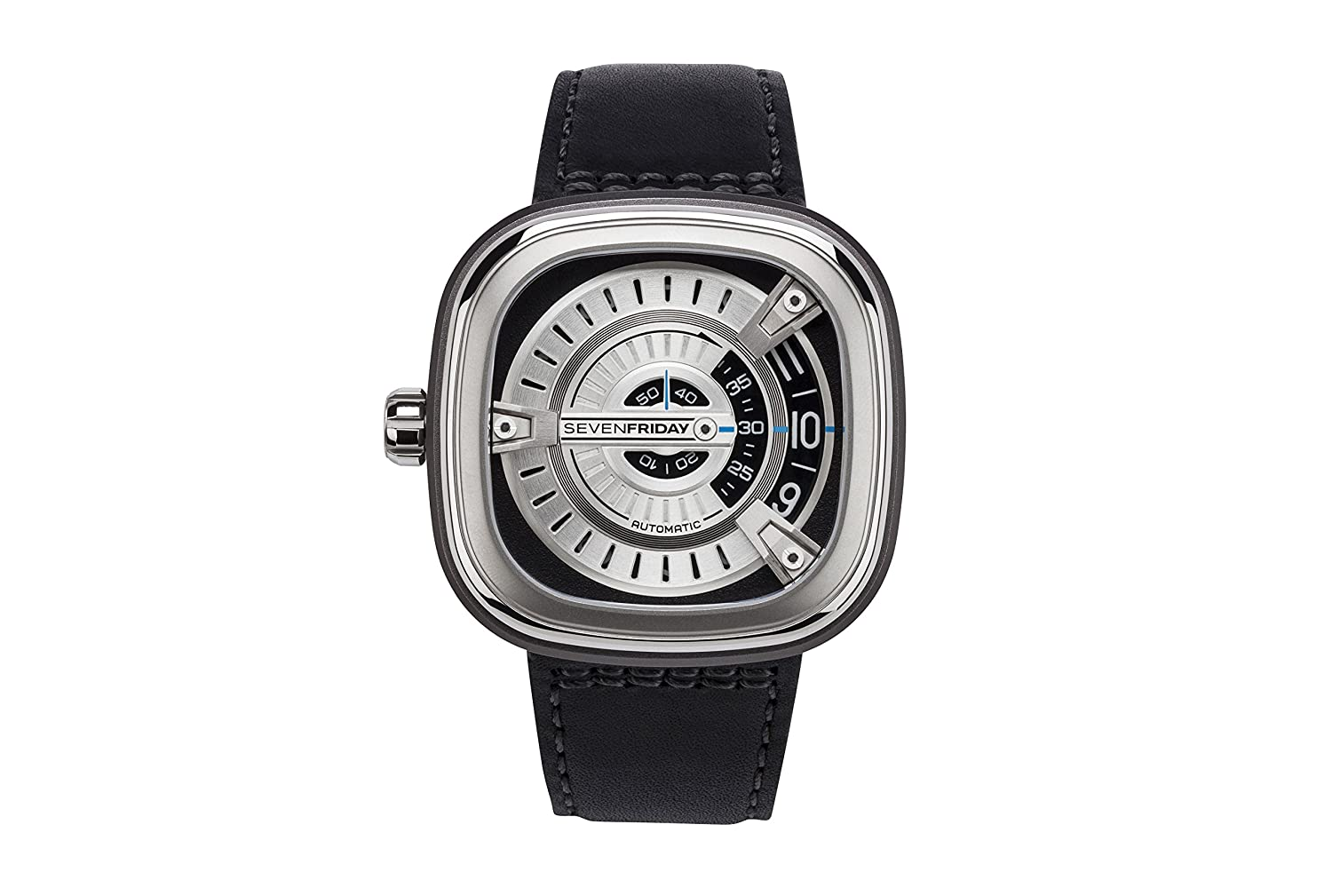 SEVENFRIDAY (Seven Friday) (H6 DLT) Mens Watch MSeries tonoface Watch 4562320464055, Silver Black, Adjustable