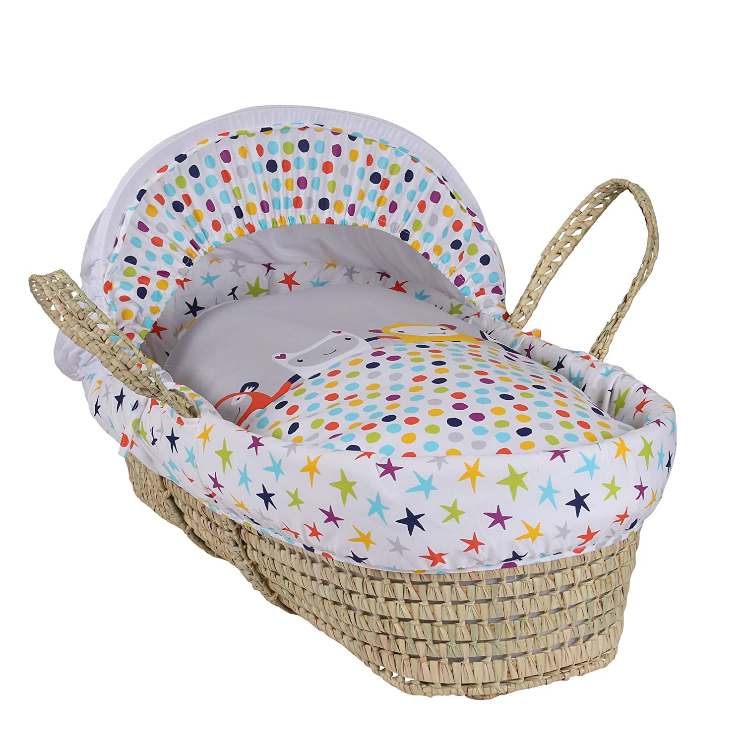 Clair de Lune The Dudes Palm Moses Basket CL5640