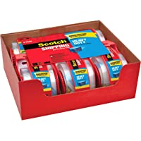 """Scotch Heavy Duty Shipping Packaging Tape, 6 Rolls with Dispenser, 1.88"""" x 22.2 yd, 1.5"""" Core, Great for Packing…"""