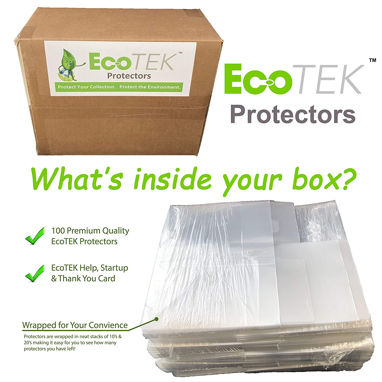 Crystal Clear 100 PACK of EcoTEK Pop Protectors 4 Inch Pop Pop Protector Case for Funko STRONG Heavy Duty Acid Free w// Protective Film EcoTEK Protectors Vinyl Figures