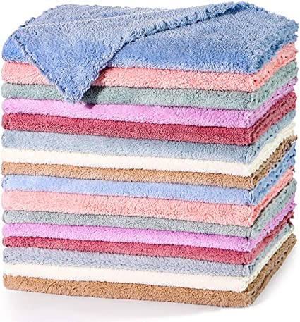 Microfiber Cleaning Cloth for Cars Micro Fibers Towels Strong Absorption,Non-Abrasive Microfiber Towels for Home 16/×16 inches