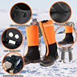 QTECLOR Leg Gaiters Waterproof Snow Boot Gaiters