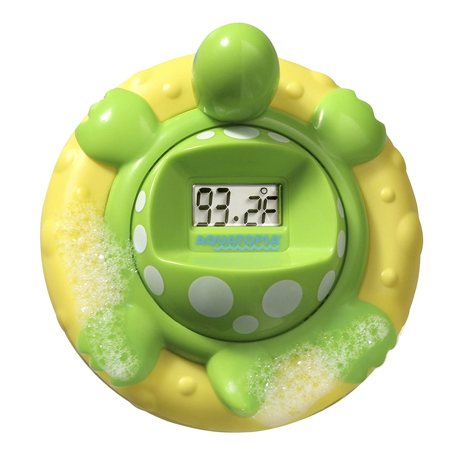 Aquatopia 1014 Deluxe Safety Bath Thermometer Alarm, Green