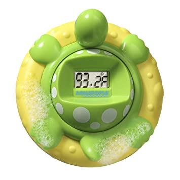 Amazon.com : AQUATOPIA Floating Safety Bath Thermometer for Infants, Digital Audible Alarm, Beeps When Too hot or Too Cold! (Green) : Bathtub Thermometers : ...