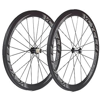 VCYCLE Nopea 700C Carbono Bicicleta Ruedas 50mm Tubular 23mm Ancho UD Mate Shimano o Sram 8