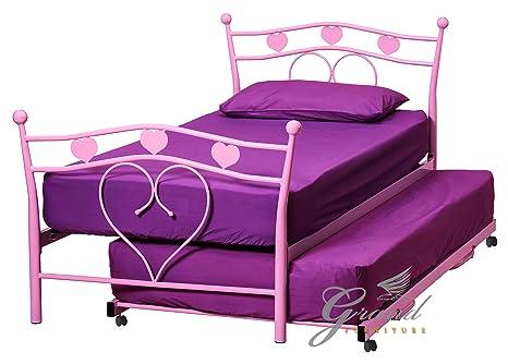 Camera da letto barbie alla moda letto cuore singolo da per