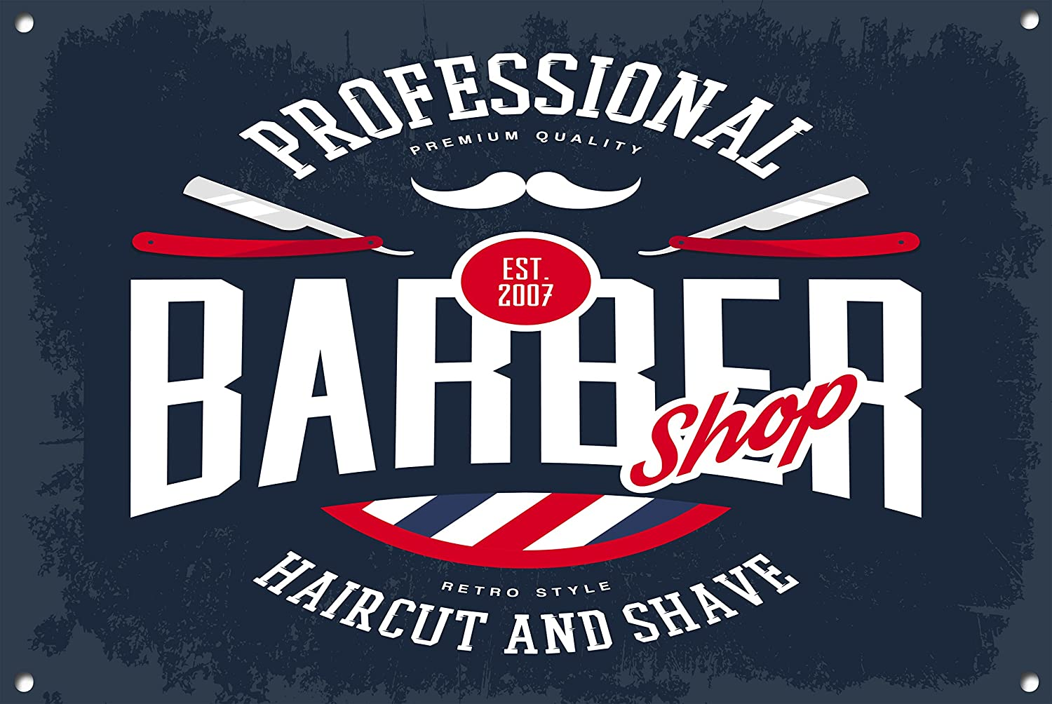 The Metal Sign Shack Cartel de Barber Shop, signo de metal ...