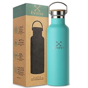 Amazon.com: Botella de agua de acero inoxidable aislada por ...