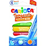 Carioca – Scatola di 6 Tempera solidi in Barra temperello, 42739)