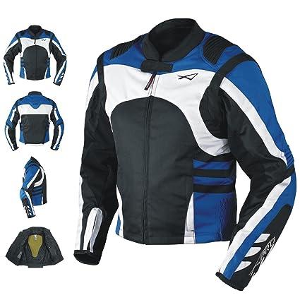 8d03545c048 Textile Summer Jacket CE Armored Racing Motorbike Motorcycle Windproof Blue  L  Amazon.co.uk  Car   Motorbike