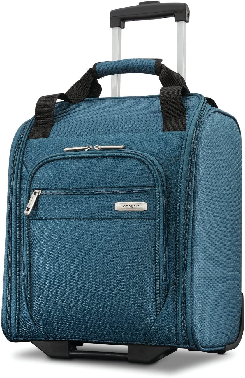 Samsonite Advena Softside Expandable Luggage with Spinner Wheels, Teal, Underseater