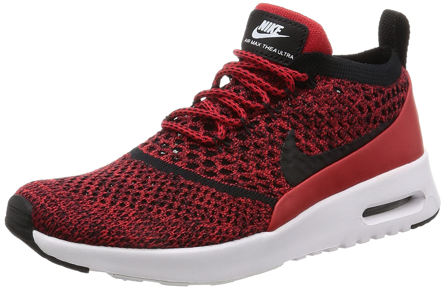 NIKE Women's Air Max Thea Ultra FK Running Shoe B005A95H0Y 7 B(M) US|University Red / Black-white