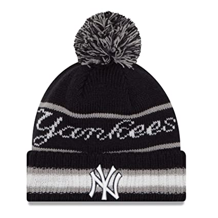 288fa8b4f68 Image Unavailable. Image not available for. Color  New York Yankees New Era  MLB Cuffed Vintage Select Pom Knit Hat ...