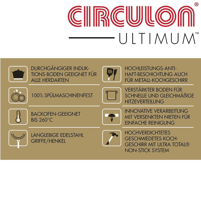 mit lebenslanger Zufriedenheitsgarantie Circulon Premium Wok für Induktion Unvergleichliche Hitzeverteilung und Antihaft Eigenschaften für Alle Herdarten 100/% spülmaschinenfeste Woks Meyer Group Ltd. 36 cm