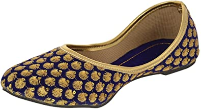 Fashion World Blue Ethnic Footwear for nice cheap online ZiOca