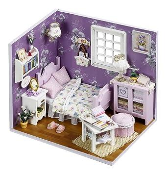 Marvelous DIY Holzpuppen Haus Handwerk Miniatur Kit   Schlafzimmer Modell U0026 Alle Möbel
