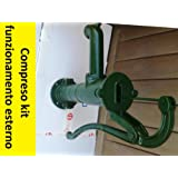 + Kit Funzionamento - Pompa manuale a mano pozzo funzionante decorativa elephas ghisa fontana