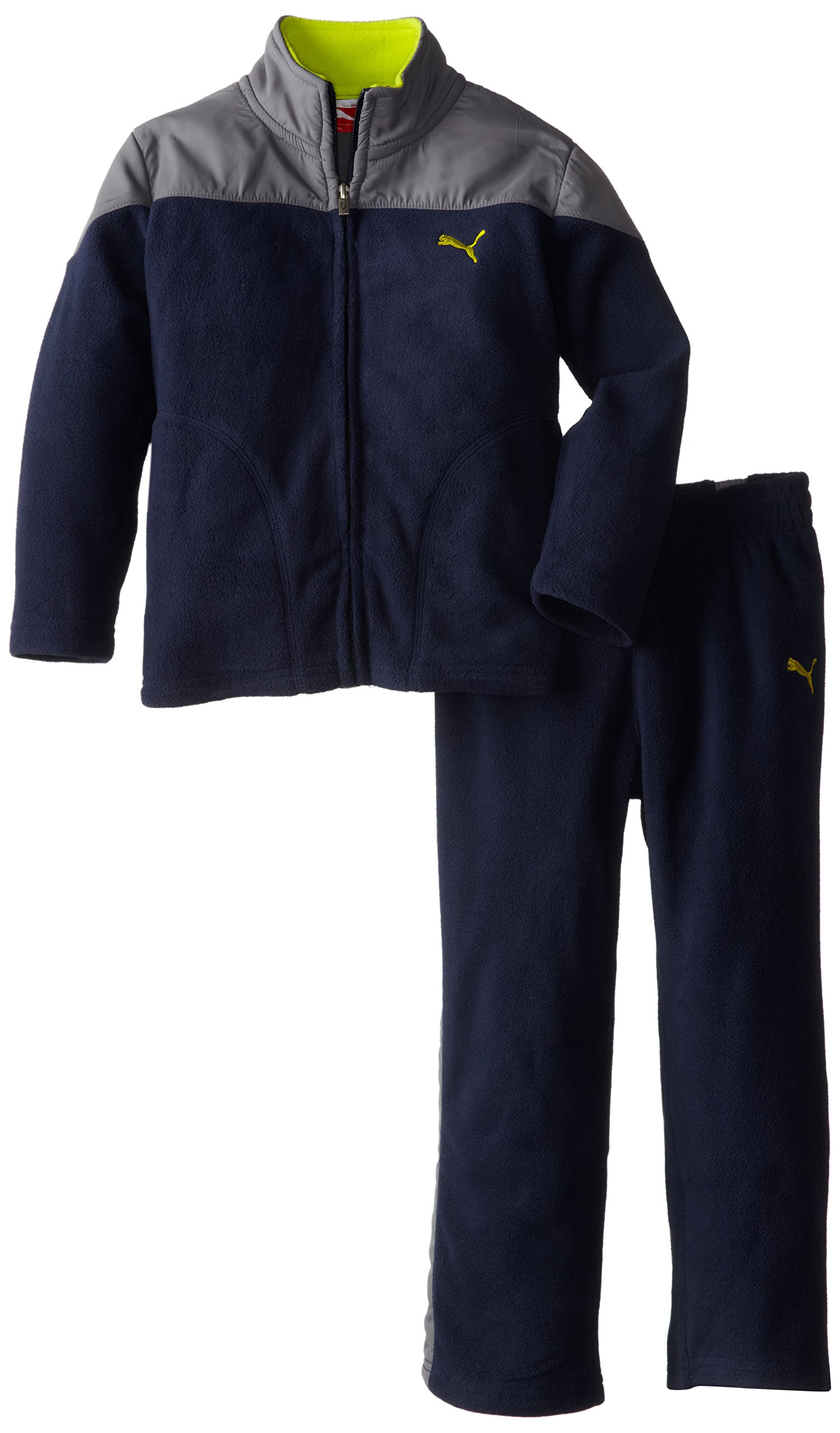 PUMA Little Boys' Curve Polar Fleece Set, Peacoat, 6 by PUMA