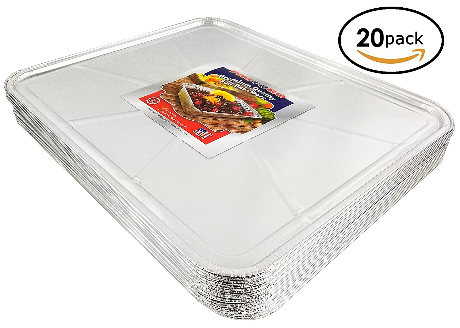 Pactogo Disposable Aluminum Foil Oven Liner 18.5