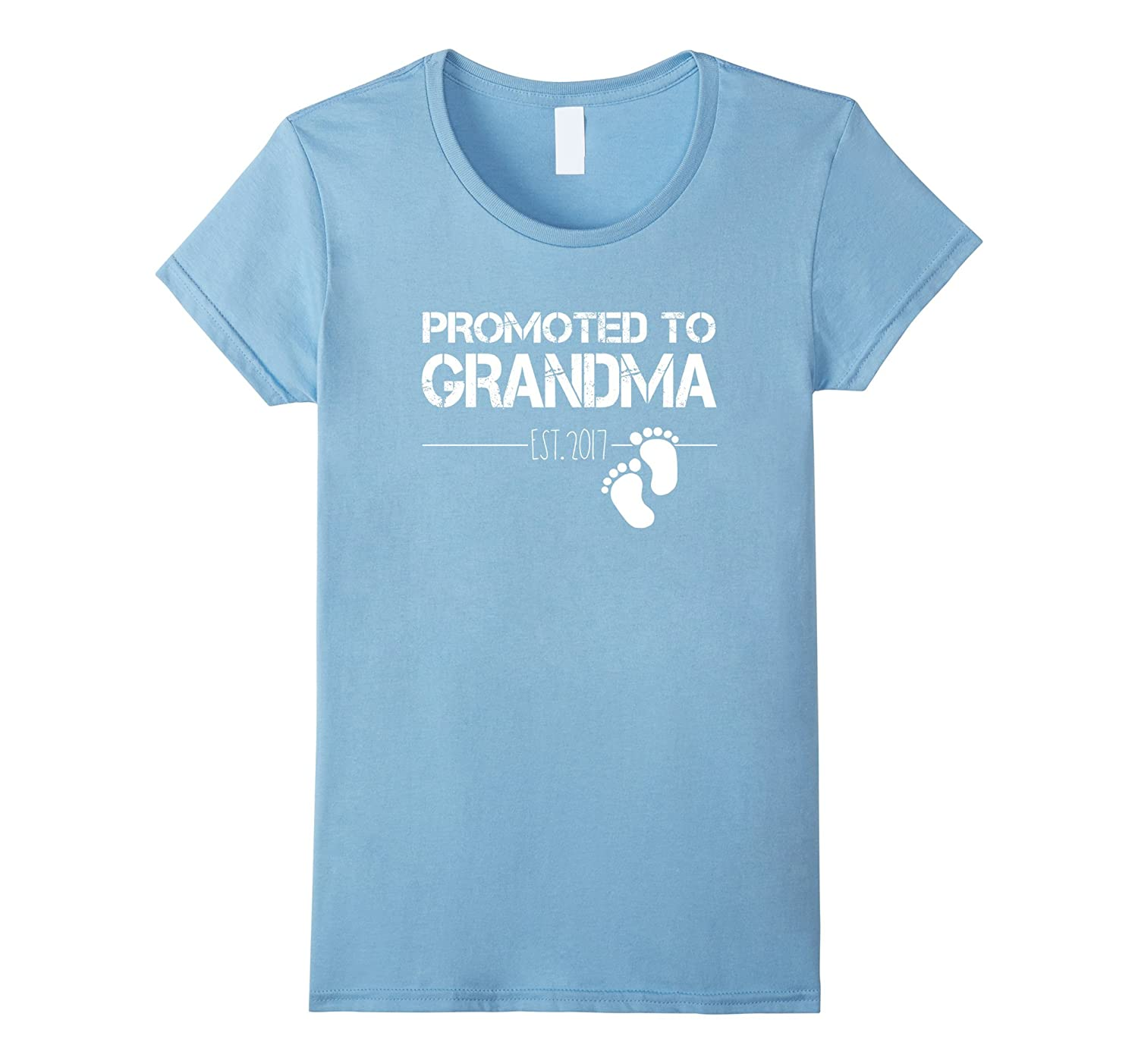 Womens Womens Women's Promoted To Grandma Est 2017 T-Shirt New Gift-FL