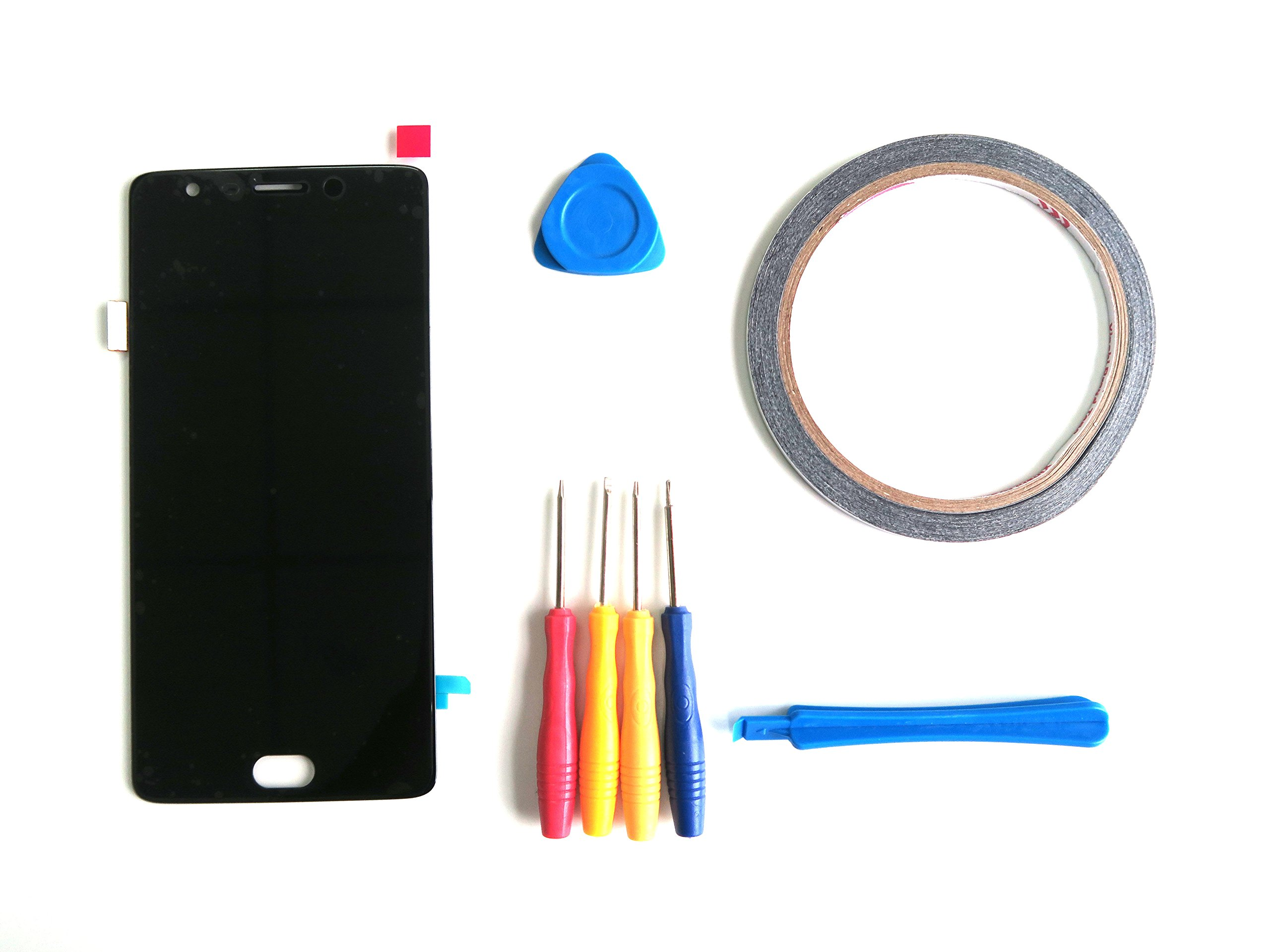 LCD Display +Touch Screen Digitizer Replacement For OnePlus Three 3 A3000 A3003+ Tools (Double-sided adhesive is Also included)