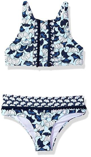 6006dab1e5a6c Amazon.com: OndadeMar Girls Lotto High Neck Bikini Set: Clothing