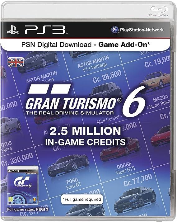 Psn Digital Download Code - 2.5 Million Gran Turismo In Game Credits [Importación Inglesa]: Amazon.es: Videojuegos