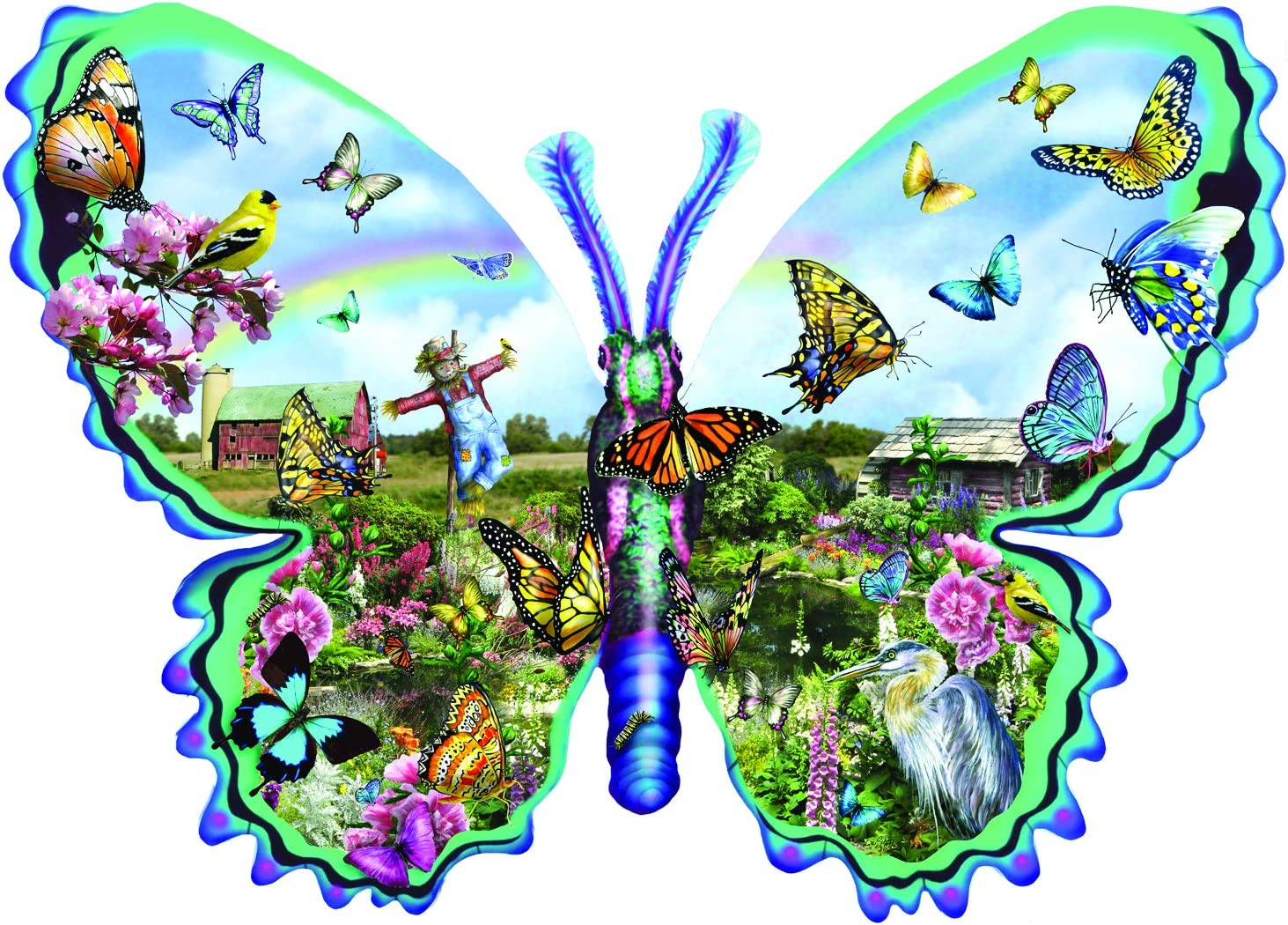 Butterfly Shaped Jigsaw Puzzle | Shaped
