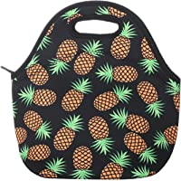 Aiphamy Pineapple Neoprene Lunch Bag Insulated Lunch Box Tote for Women Men Adult Kids Teens Boys Teenage Girls Toddlers…