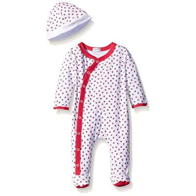 ABSORBA Baby-Girls Tutti Fruitti Footie with Cap, White, 3-6 Months