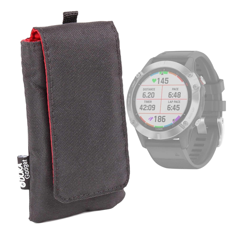 DURAGADGET Funda Acolchada Negra/Roja Compatible con Smartwatch ...