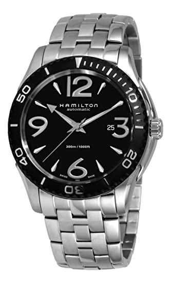 Hamilton H37715135 - Reloj analógico de caballero automático con correa de acero inoxidable plateada: Amazon.es: Relojes