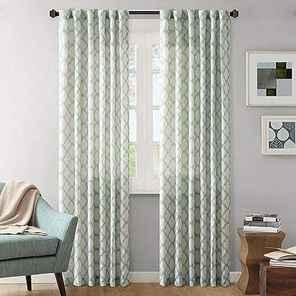 Nice Ink+Ivy Modern Blue Curtains For Living Room, Nakita Print Rod Pocket  Window Curtains