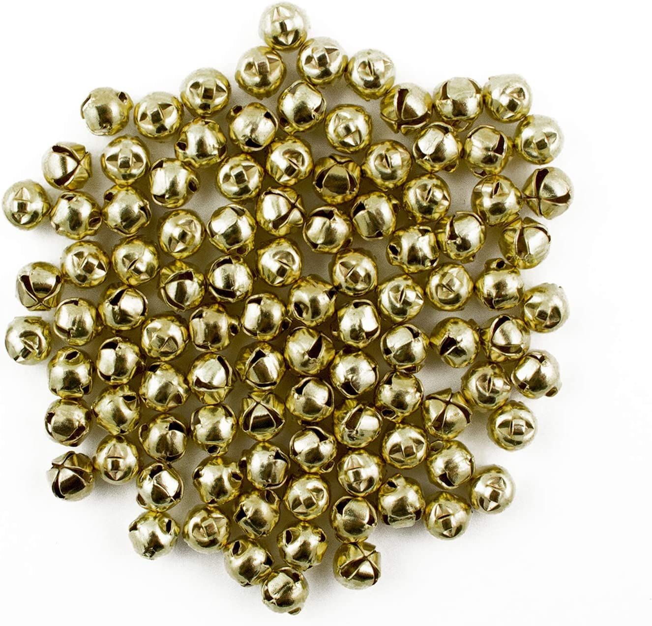 100 Tiny Brass Bells Beads Charms Bronze Bells Eastern Jewelry Making Craft 6mm