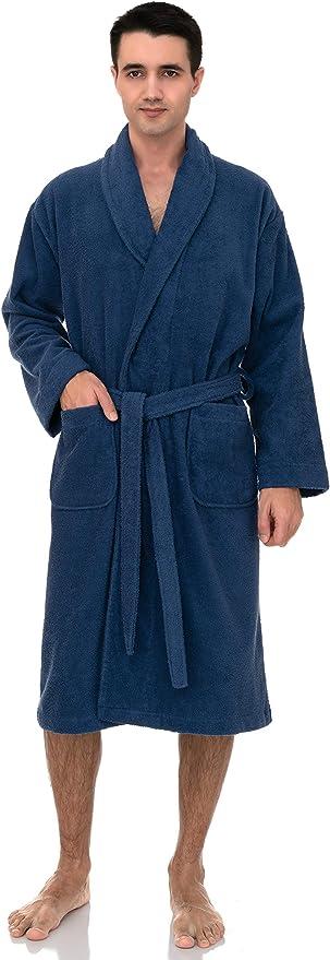 TowelSelections Mens Turkish Cotton Robe Terry Kimono Bathrobe Made in Turkey