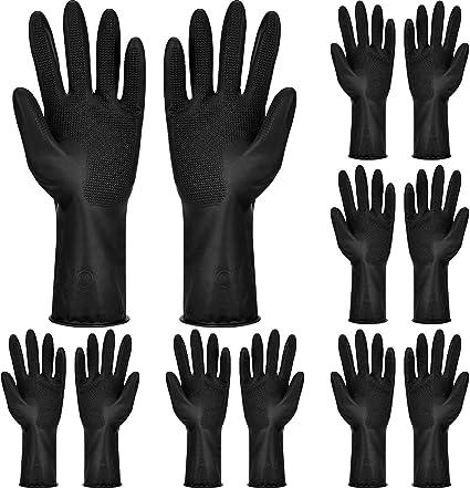 6 Pares Guantes de Tinte de Cabello Guantes de Color de Pelo Guantes de Teñido Reutilizables Accesorios Colorear Cabello para Herramientas Pelo de ...