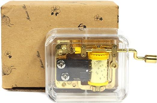 cinlla único transparente caja Musical Acrílico Manivela Caja de ...