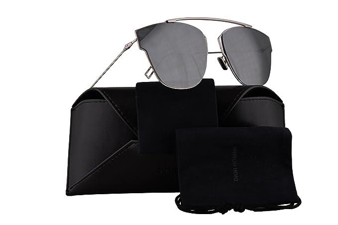 271047dd693 Christian Dior Homme Dior0204FS Sunglasses Palladiun w Black Mirror ...
