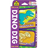 School Zone - Dino Dig Card Game - Ages 4+, Preschool to Kindergarten, Dinosaurs, Dinosaur Names, Counting, Matching, Vocabulary, and More (School Zone Game Card Series)