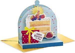Hallmark Paper Wonder Displayable Pop Up Birthday Card (Birthday Cake)