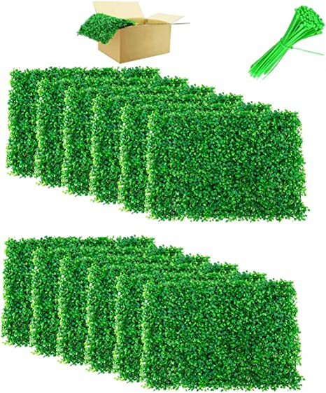 Nisorpa 12 Pack Boxwood Hedge Panels Artificial Plants Mat Privacy Fence Screen Faux Greenery Wall Backdrop Suitable For Outdoor Indoor Garden Patio Backyard Uv Protection 31 Square Feet Amazon Co Uk Kitchen Home