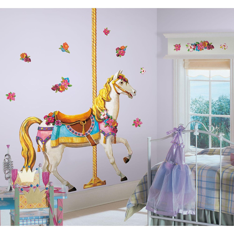 Adesivo Para Quarto De Beb Cavalo Do Carrossel Gigante Roommates  -> Fts De Cavalo Rm Adesivo Pra Quarto